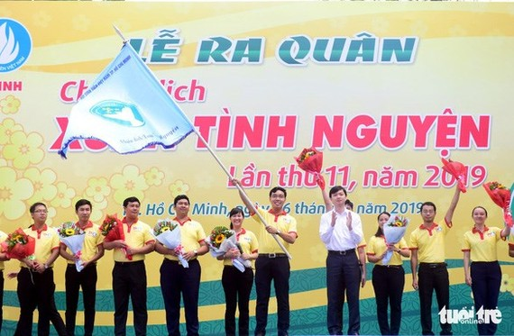 Voluntary spring campaign is launched in Ho Chi Minh City on January 6. (Photo: tuoitre.vn)