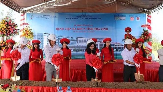 Groundbreaking ceremony of $68.8 million General Hospital in Tra Vinh