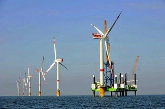 Wind turbines of the Bac Lieu wind power plant (Source: Internet)