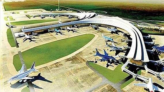 Artist's interpretation of a corner of Long Thanh Airport