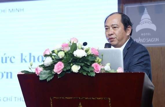 Deputy Head of the Ho Chi Minh City Department of Health Tang Chi Thuong speaks at the seminar (Photo: SGGP)