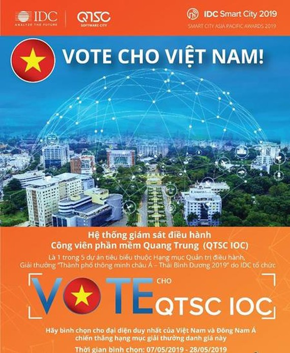 Quang Trung Software City passes preliminary round of Smart City Awards