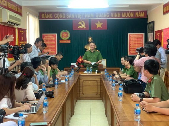 At the yesterday press briefing (Photo: SGGP)