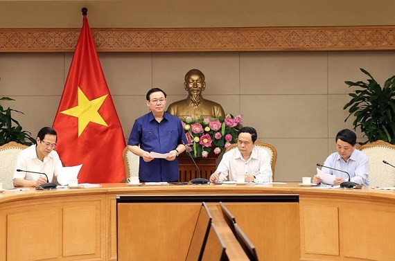 Deputy PM Hue at the meeting (Photo: SGGP)