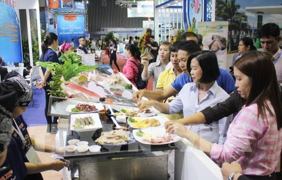 An international exhibition on fisheries is being held at the Saigon Exhibition and Convention Centre until the end of the month. — VNA/VNS Photo
