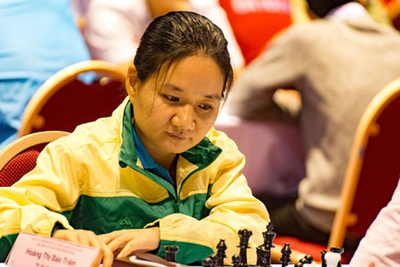 Hoang Thi Bao Tram at National Chess Championship 2017