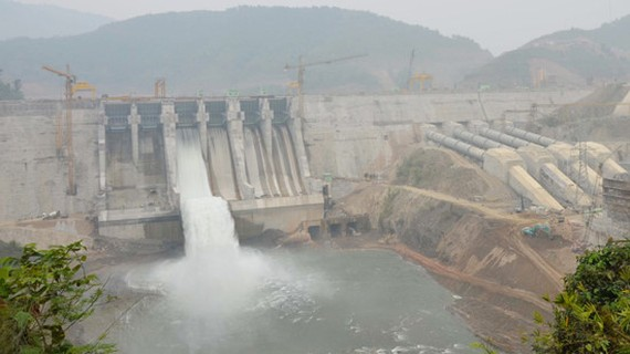 Turbine group No.3 of Trung Son Hydropower Plant was officially generated power