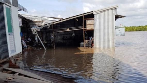 Recent river bank landslide hit Ca Mau