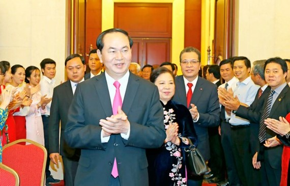 President of Vietnam Tran Dai Quang and his wife will visit Russia and Belarus (Illustrative photo:SGGP)