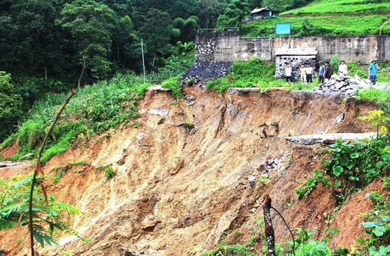 Landslides in Ha Giang province (Photo: VNA)