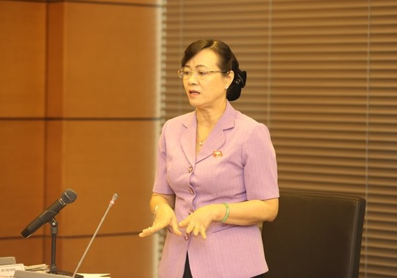 Chairwoman of the Ho Chi Minh City People's Council Nguyen Thi Quyet Tam (Illustrative photo:SGGP)