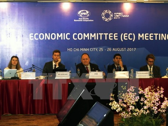 Participants in the APEC Economic Committee meeting in Ho Chi Minh City (Photo: VNA)