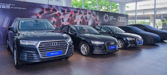 Audi Vietnam has delivered 186 cars of five different models in APEC limited edition to the APEC 2017 Committee. (Photo: Audi Vietnam)