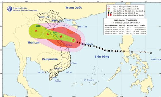 Position of typhoon Doksuri