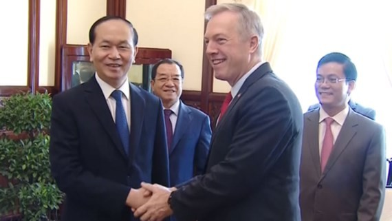 Vietnamese President receives US Ambassador to Vietnam Ted Osius