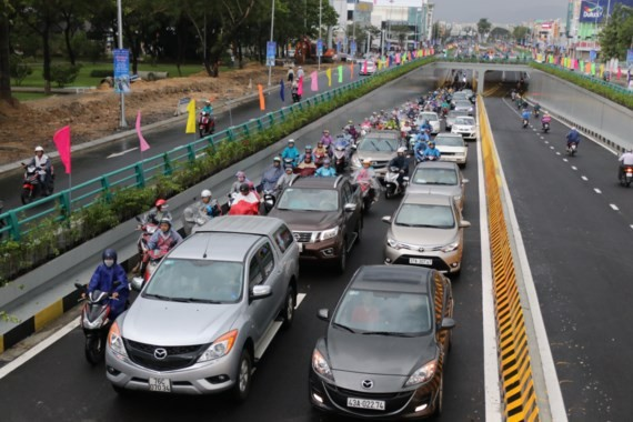Road tunnel at the intersection of Dien Bien Phu and Nguyen Tri Phuong streets is opened to traffic