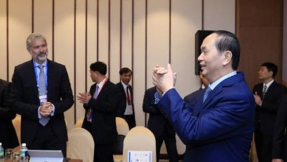 State President of Vietnam Tran Dai Quang receives the delegation of US- APEC Business Alliance (Photo:VNA)