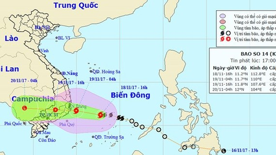 Position of typhoon Kirogi (Photo: NHMFC)