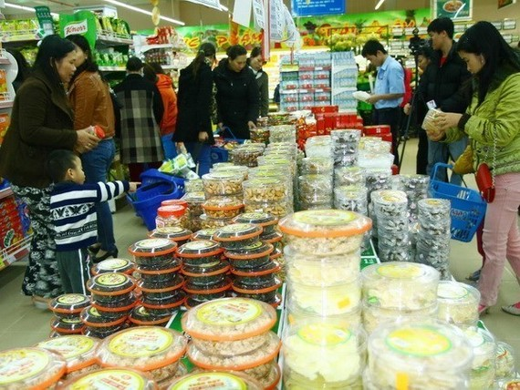 A goods fair in Hanoi (Photo VNA)