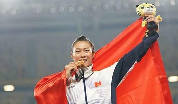 rack & field athlete of Ho Chi Minh City Le Tu Chinh is one of  ten outstanding young people of Vietnam in 2017
