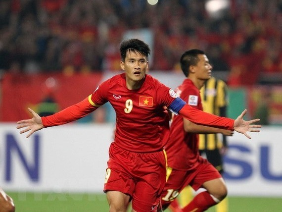 Vietnam top striker Le Cong Vinh (Source: VNA)