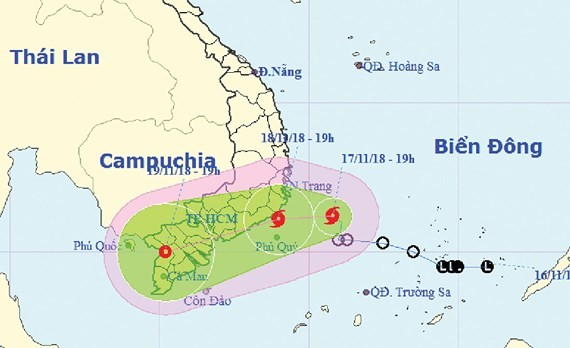 Typhoon Toraji heading to south