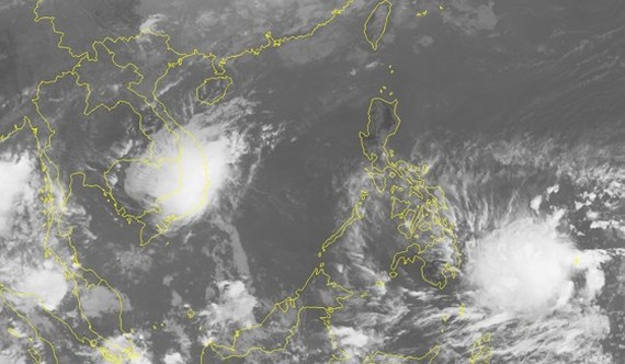 Position of tropical- low depression nears shore