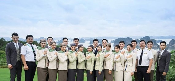 Bamboo Airways' crew uniform