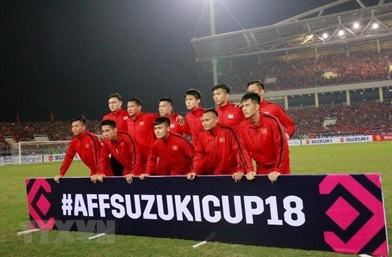 Vietnam's national men's football team has maintained its 100th spot in the latest International Federation of Football Associations (FIFA) rankings released on December 20 (Photo: VNA)
