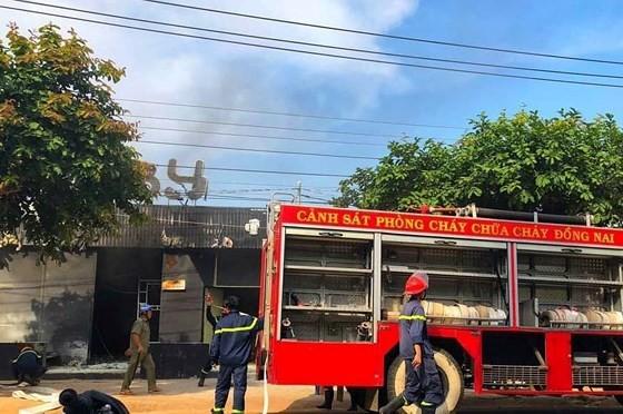 The flame flares up inside restaurant