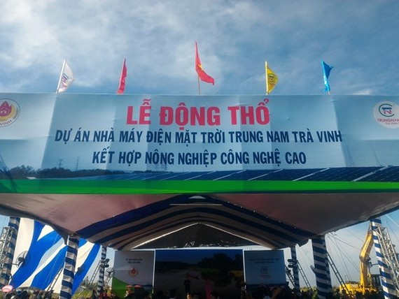 Inauguration ceremony of Trung Nam Tra Vinh solar power plant project