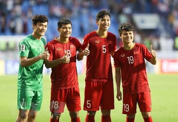 Players of Vietnam's U23 team for the 2020 AFC U23 Championship qualification (Photo: VNA)