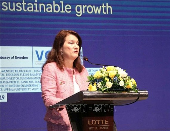 Swedish Minister for Foreign Trade Ann Linde (Photo: VNA)