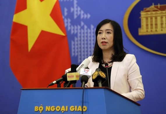The spokesperson of the Foreign Ministry Le Thi Thu Hang (Photo: VNA)