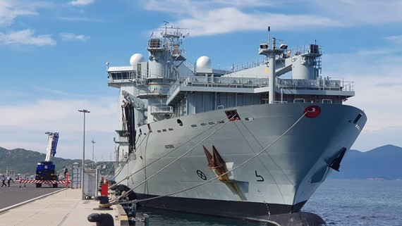 The multi-role patrol frigate of Royal Canadian Navy HMCS Regina