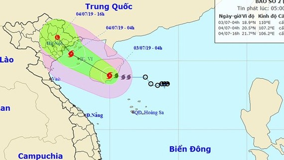 "Typhoon ""MUN"" approaches mainland from Quang Ninh to Hai Phong"