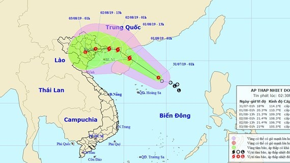 Tropical storm is expected to make landfall in Vietnam's North- Central provinces from Quang Ninh to Nam Dinh.