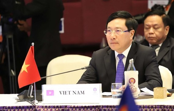 Deputy Prime Minister and Foreign Minister Pham Binh Minh at the event (Photo: VNA)