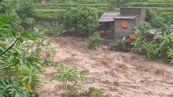 At least two dead and 13 missing people were due to relentless flooding