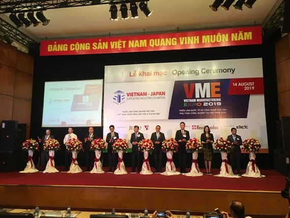 The eighth Vietnam-Japan Supporting Industries Exhibition and the 11th Vietnam Manufacturing Expo take place in capital city of Hanoi