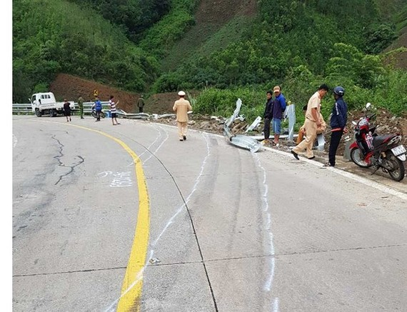 the scene of the accident