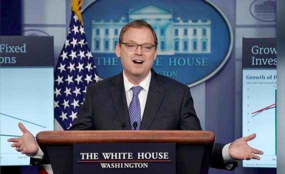 Chủ tịch Hội đồng Cố vấn kinh tế của Nhà Trắng Kevin Hassett tại một cuộc họp báo tại Nhà Trắng ở Washington, Mỹ, ngày 10-9-2018. Ảnh: REUTERS