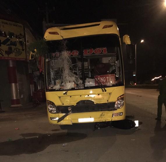Chiếc xe khách gây tai nạn giao thông nghiêm trọng