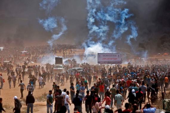 加沙地帶爆發大規模抗議和衝突事件。(圖源:AFP)