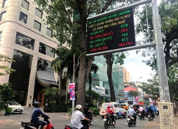 胡志明市空氣質素顯示版。