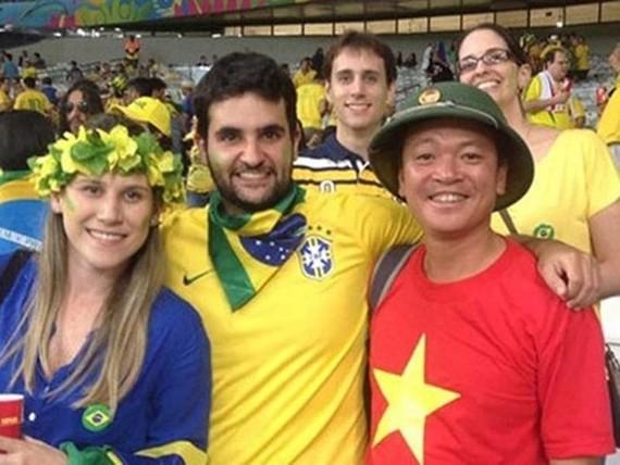 越南許多球迷已陸續前往俄羅斯為 2018 年世界盃助威。(圖源:NVCC)