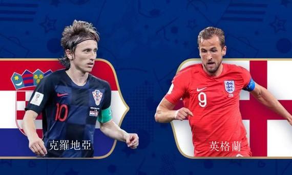 第二場半決賽:克羅地亞對英國。(圖源:互聯網)