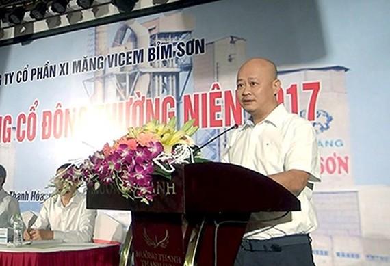 原越南水泥總公司(VICEM) 總經理陳越勝。(圖源:VOV)