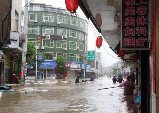 福建省寧德市霞浦牙城鎮區海水倒灌。(圖源:互聯網)
