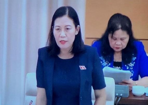國會司法委員會主任黎氏娥在會議上發言。(圖源:秋姮)